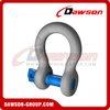 Dawson Brand Hot Dip Galvanized US Type Bow Shackle with Screw Pin