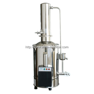 STAINLESS-STEEL ELECRIC �HEATING DOUBLE WATER DISTILLING APPARATUS (CUTS OFF THE WATER SUPPLY SUTO MATIC CONTROL)