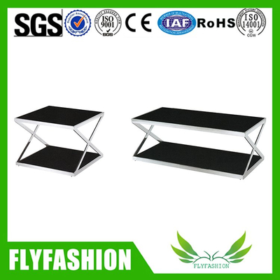 Latest product stainless steel tea table glass tea table (OF-61)