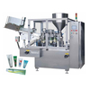 Automatic plastic tube filling and sealing machine for comestic