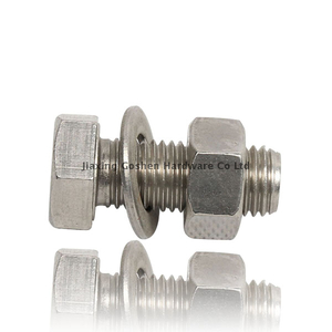 metric stainless steel heavy hex bolt used on the machine