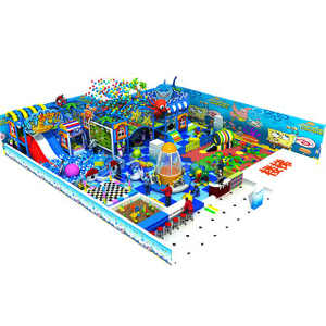 Ocean Theme Children Soft Indoor Adventure Playground with Pneumatic Gun