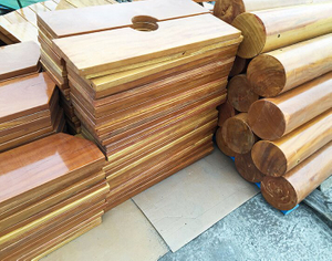 Treated Wood Parts of indoor playground