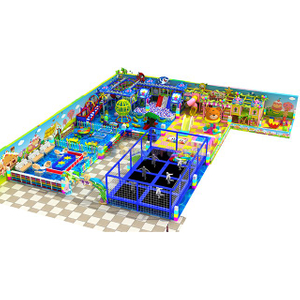 Multifunctional Soft Play Kids Indoor Playground with Trampoline Park for sale