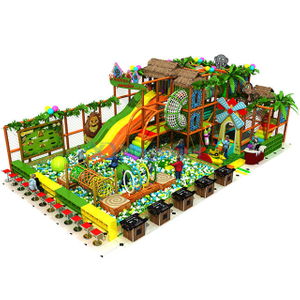 Customized Jungle Theme Children Indoor Playground with Ball Pit