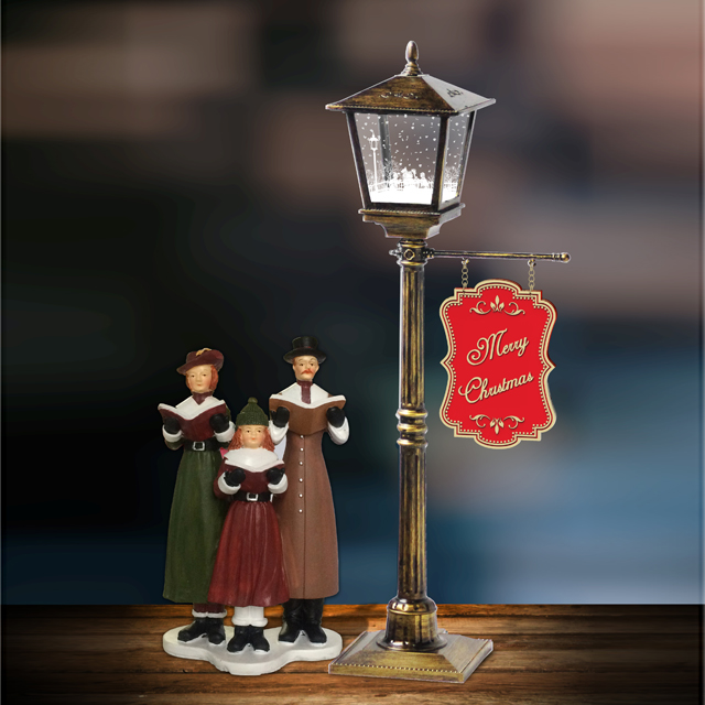 Mini Snowing Christmas Lamp Table Lamp Hotel Decoration Lamp