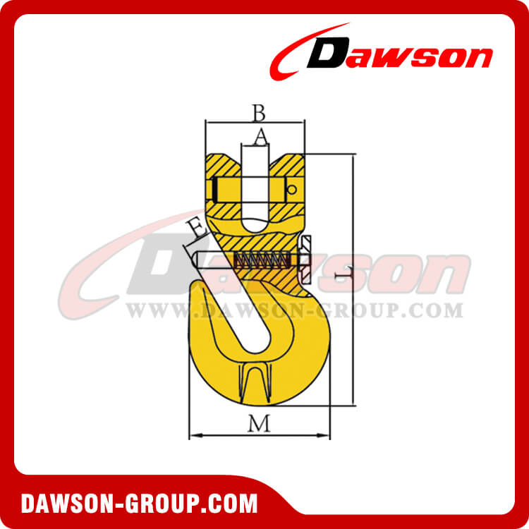 G80 / Grade 80 Clevis Shortening Cradle Grab Hook with Safety Pin for Adjust Chain Length