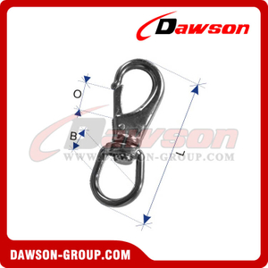 Stainless Steel Swivel Eye Snap Hook