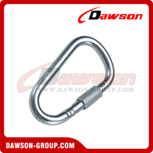 Stainless Steel D Type Snap Hook with Screw