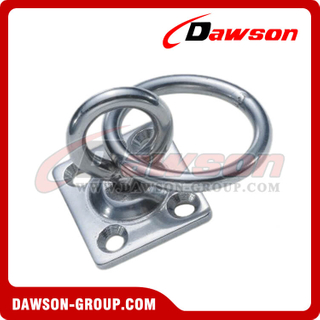 Stainless Steel Pad Eye Swivel with Ring