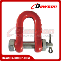 DS049 G80 Bolt Type Dee Shackle, Chain Shackle with Bolt for Lifting