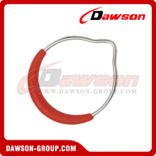 Zinc Plated Gymnastic Ring with Red Plastic Cover