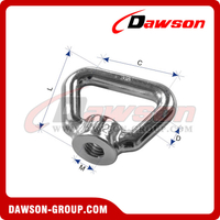 Stainless Steel Rectangular Eye Nut