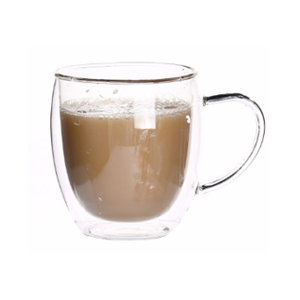 12oz double wall glass mugs