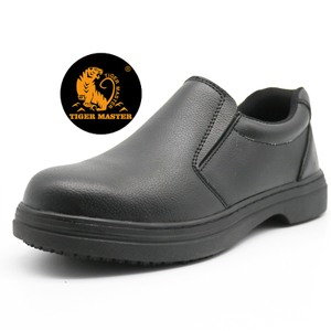 Oil Slip Resistant Cemented Kitchen Executive Safety Shoes Steel Toe Cap