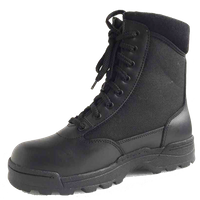 China black police tactical boot cheap