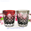 cheap stock hand cut glass tumbler
