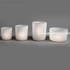 frosted white votive glass candle container for church
