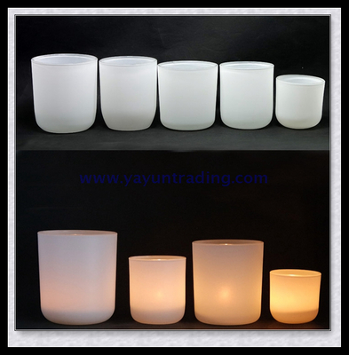 Luxury White Aroma Soy Wax Candles Jars with Golden Lid