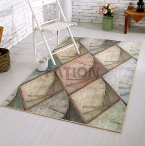 5'×8' Indoor Anti-slip Print Rug with Non-woven Backing