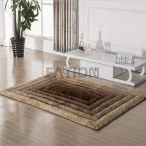 Modern Home Anti-slip Shag Rug Customize 3D Design Carpet