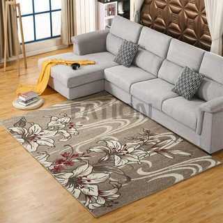 Unique Flower Design Polypropylene Area Rug