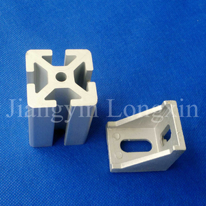 Silver Anodized Aluminum Extrusion for Industry with Connector