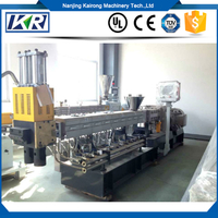 PET Recycling Co-rotating Twin Screw Extruder Granules Making Line
