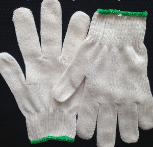 Cotton knitted wrist gloves