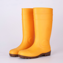 Yellow pvc safety wellington boots