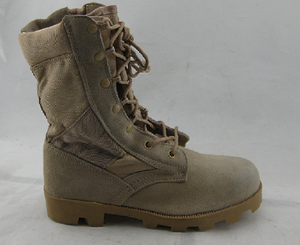Split leather vulcanized jungle safety boots