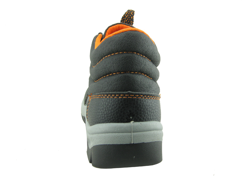 Embossed PU artificial leather safety shoes for work men