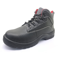 ENS013 black steel toe safety work shoes