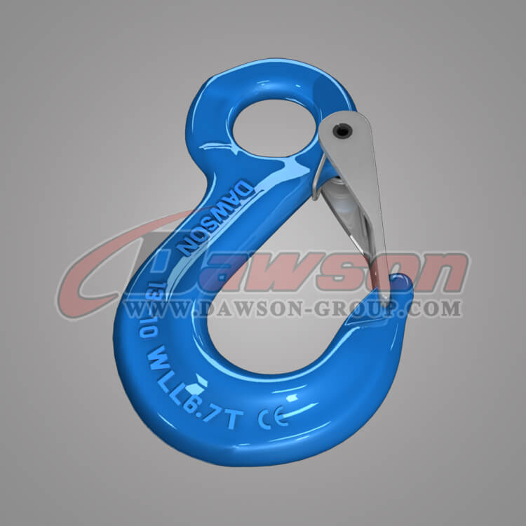 Grade 100 Eye Sling Hook with Latch for Lifting Slings, G100 Sling Hook - China Manufacturer Supplier, Factory