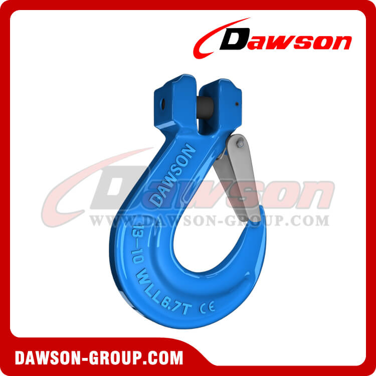 G100 / Grade 100 Clevis Sling Hook With Safety Latch for Chain Sling Fitting