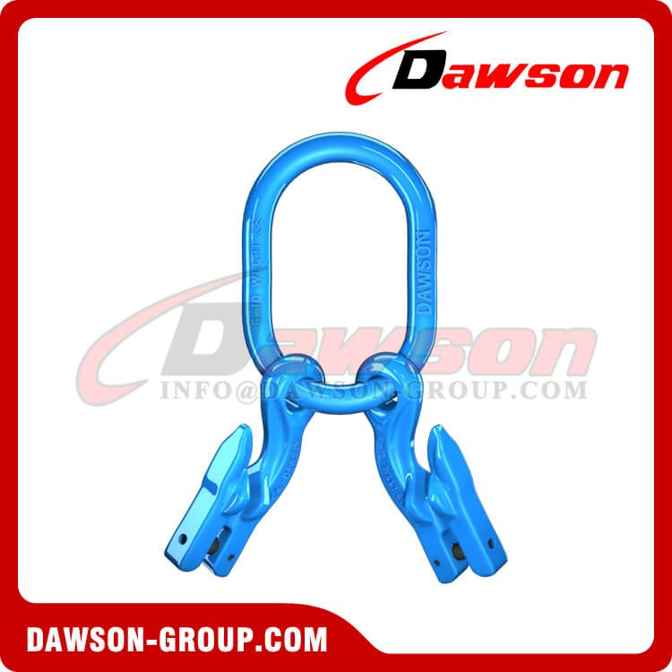 G100 / Grade 100 Forged Master Link + G100 Eye Grab Hook with Clevis Attachment for Adjust Chain Length × 2