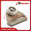 50MM High Tensile Steel Canvas Runner Trapezium with 2 White Roles with Bearing for Truck Trailer Parts