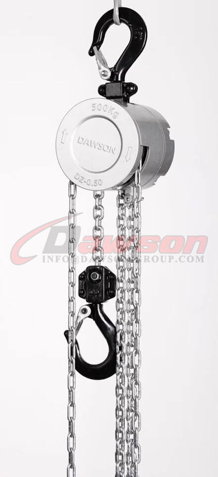 250KG Mini Aluminum Alloy Chain Hoist, Chain Block for Construction Site Lifter - China factory