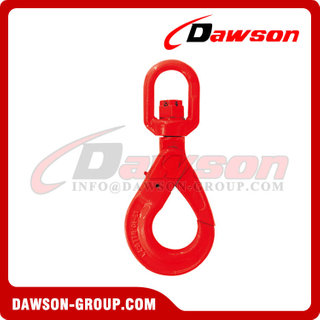 DS767 G80 / Grade 80 European Type Swivel Self-Locking Hook