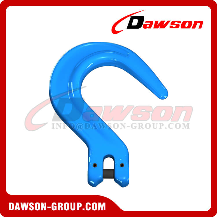 Grade 100 Forged Steel Clevis Foundry Hook, G100 Clevis Type Large Opening Hook for Lifting - Dawson Group - China Factory