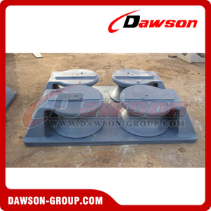 Double cast roller chock