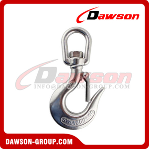 Stainless Steel eye swivel crane hook