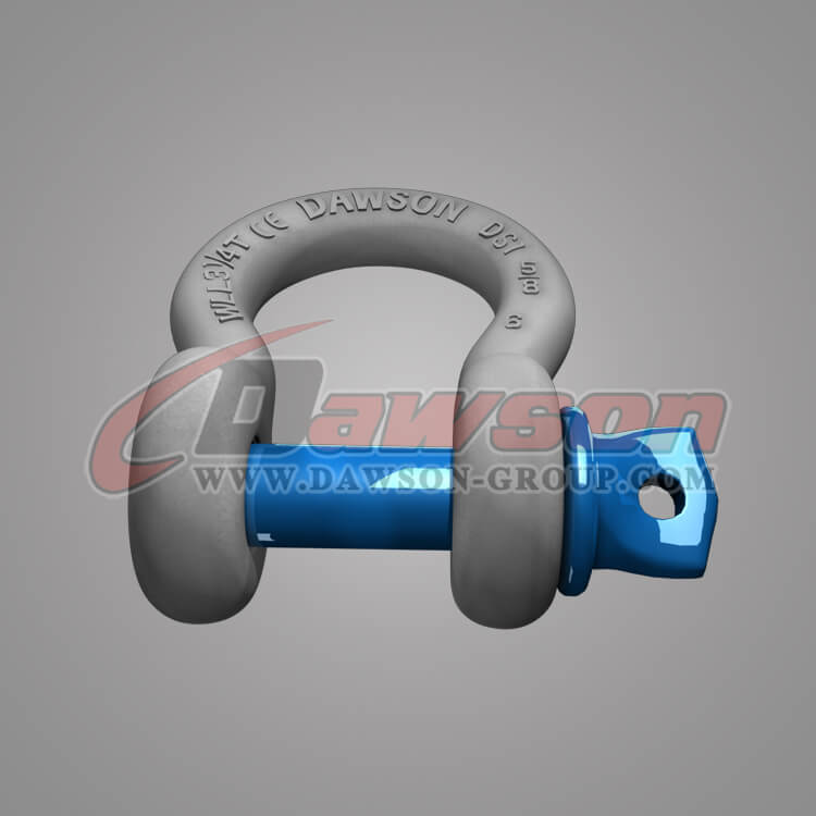 Dawson Brand Hot Dip Galvanized US Type Bow Shackle with Screw Pin, G209 Bow Shackle - China Supplier
