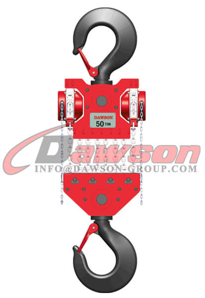 DAWSON DSDF-C 50T 60T Heavy Duty Lifting Chain Block, Chain Hoist - China Supplier
