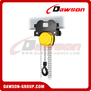 DS-HTP 0.5T - 10T Hand Pull Trolley Hoist Combination, Low Headroom Hoist Trolley