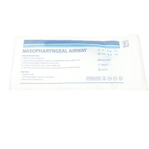 FDA CE ISO Approved Soft PVC Disposable Medical Emergency Use Nasopharyngeal Airway with Different Sizes