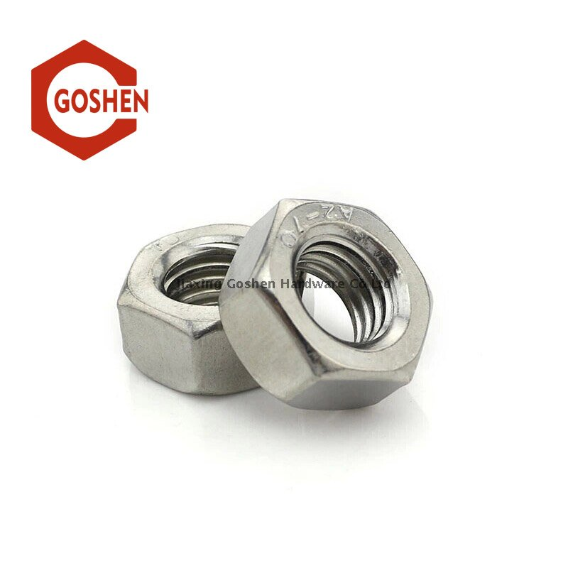 Stainless Steel A2-70 SS304 DIN934 Hex Nut