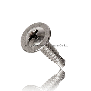 316 stainless steel flat head self drilling self tapping screws outside for metal studs