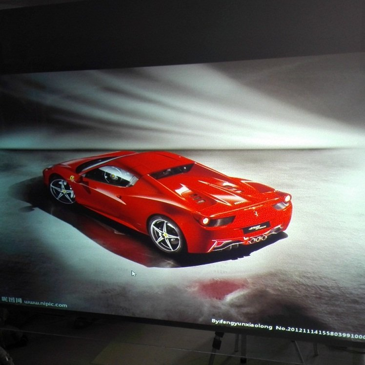 Natureal Black Rear Projection Film For Window Advertising