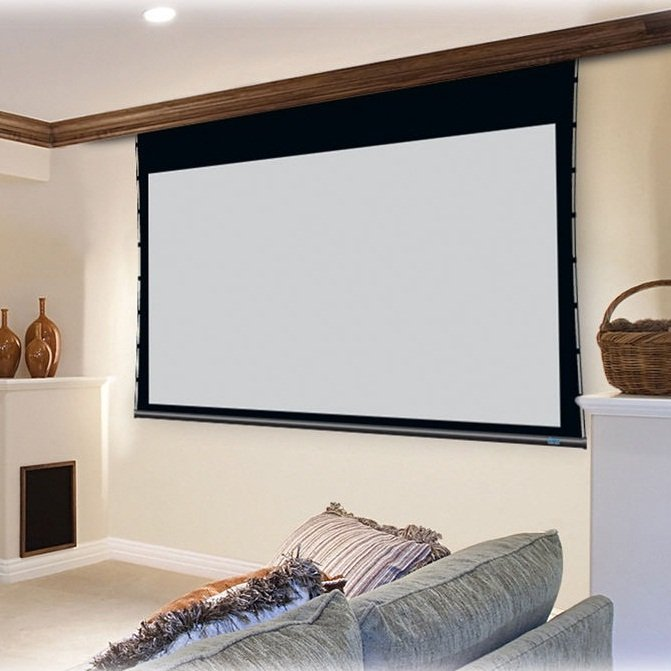 4K Tab-Tensioned Motorized Projection Screen For Home Cinema